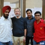 Mr. Jagpreet, Mr. Chris Bangle, Mr.Abhishek & Mr.Chandra Prasad