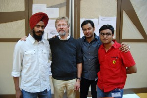 From letf to right: Jagpreet Singh, Chris Bangle, Abhishek Singh & Chandra Prasad